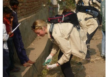 village cleaning